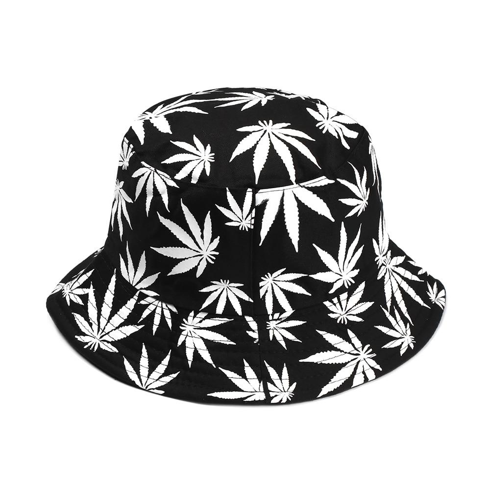 Sombreros de pescador con estampado de hojas, sombrero de pescador con estampado de hojas, Cubo de Panama informal, Unisex, gorra de algodón de pareja de Arce, Hip Hop, gorras con parte superior plana, regalos, 1 ud.