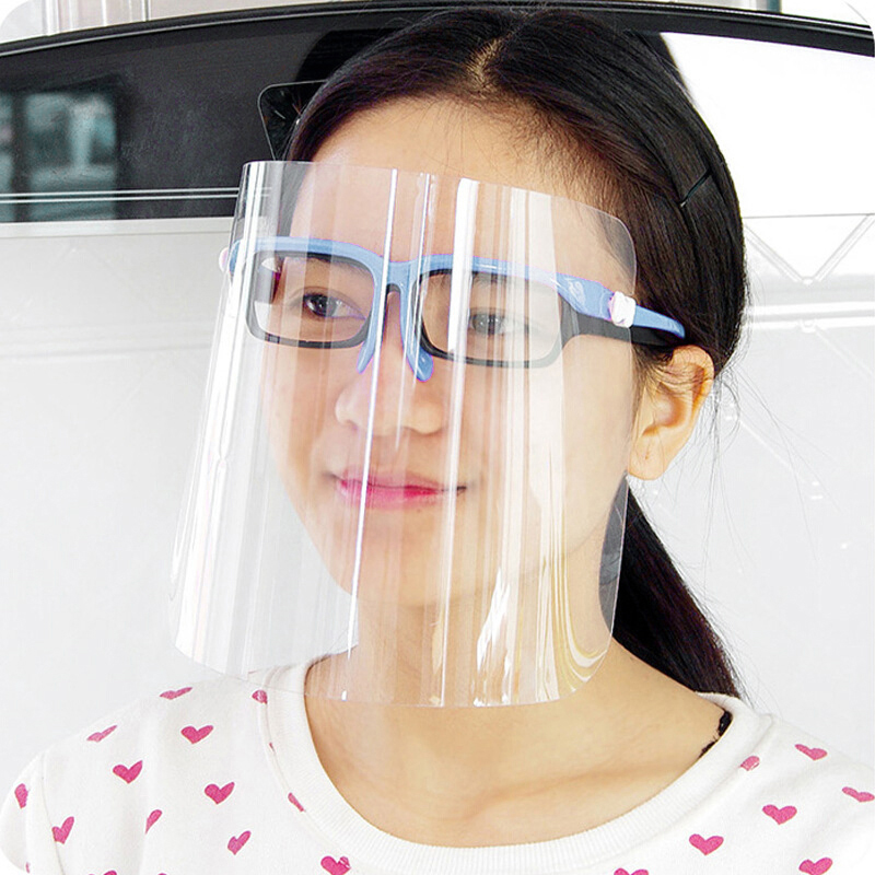 Unisex Face Shileds Protection Cover Transparent Protection Unisex Cover Clear Eye Dust Facial PC+APET