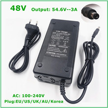 54,6 V 3A Batterie Ladegerät Für 13S 48V Li Ion Batterie Elektrische Fahrrad lithium Batterie Ladegerät Hohe Qualität Starke wärmeableitung