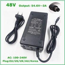 54.6V 3A Caricabatteria Per 13S 48V Batteria Li Ion Batteria al litio Bici Elettrica del Caricatore di Alta Qualità Forte dissipazione Del calore