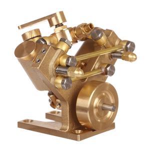 Image 4 - 8.5 × 8.2 × 7.4 センチメートル v 字型ミニ純銅蒸気エンジンモデルなしボイラークリエイティブギフトセットキッズ大人のための高品質