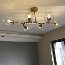 الشمال الصناعية نمط LED أضواء السقف مصباح سقف زجاجي ليد مطعم مصباح معلق مصباح لغرفة المعيشة غرفة نوم مقهى