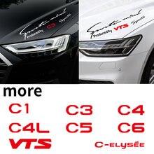 Decoração do carro lâmpada luz sobrancelha reflexivo decalque do vinil estilo automático corpo adesivo para citroen c1 c3 c4 c4l c5 c6 vts C-ELYSEE
