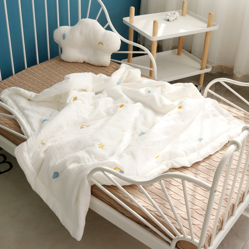 120*150cm Four Layer Cotton Blanket Newborn Baby Swaddling Product for Bedding Quilt Swaddle Wrap Babies Muslin Blanket