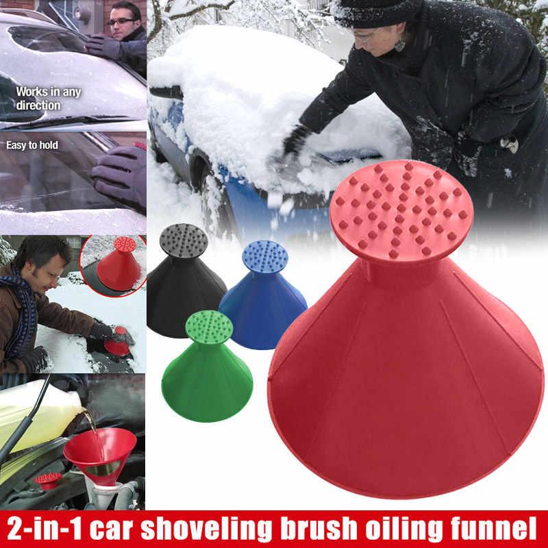 2 w 1 usuń Ice Shoveling śnieg narzędzie samochodowe szyba lejek skrobak zimowy samochód Shoveling śnieg odladzanie akcesoria narzędziowe