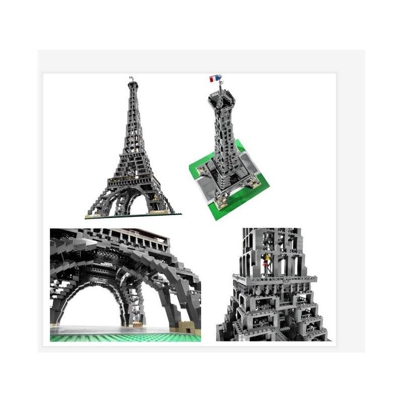 30009 stadt Berühmte Architektur Paris Bausteine Eiffelturm Modell Bricks Geburtstag Kompatibel 10181 3478 stücke Spielzeug - 3