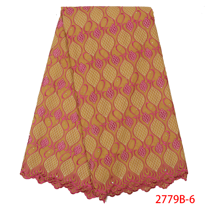 New Swiss Cotton Dry Lace 2019 Lace Materials For African Lace Fabric For Women Dresses KS2779B-6