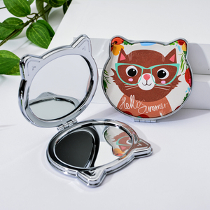 Image 2 - Vicney 2019 New Fashion Cat Element Cute Cartoon Double Side Mirror Pocket Mirror Girls Mini Make Up Mirror Beauty Mirror