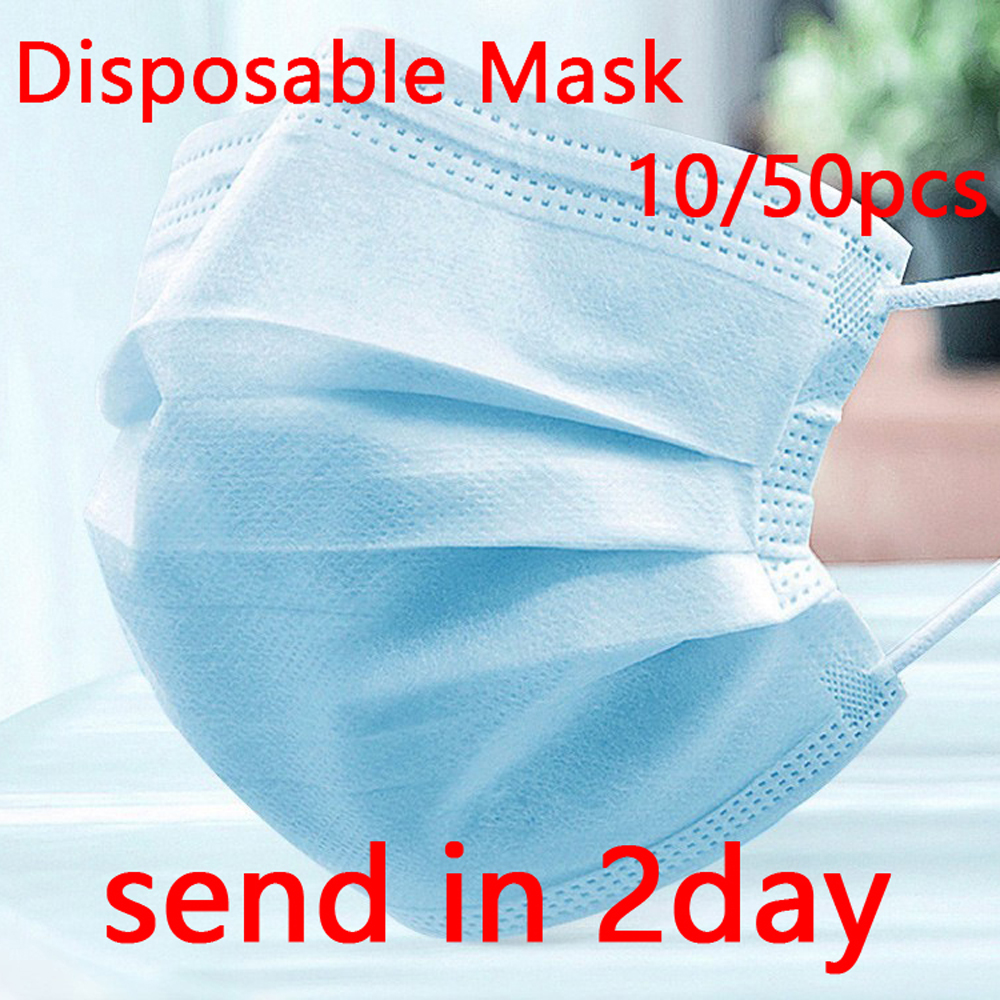 3 Laye Mask Dust Protection Masks Disposable Face Masks Elastic Ear Loop Disposable Dust Filter Safety Mouth Mask