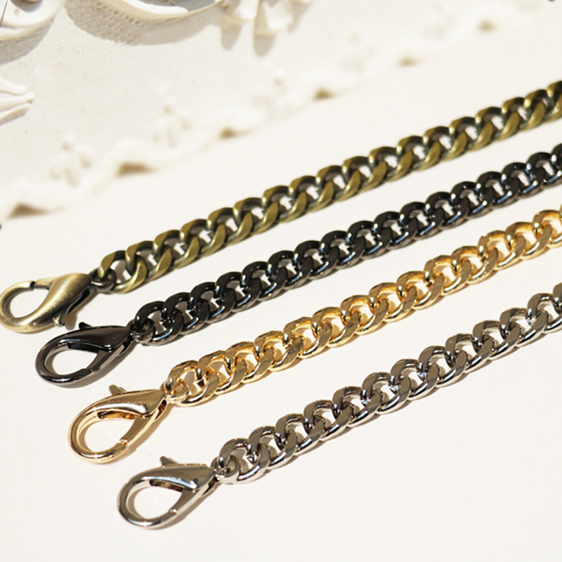 DIY 8mm Gold, Silver, Gun Black, Brass Bronze Chains Straps For Small Hanbags, Purse Handles High Quality Replacement Bag Straps