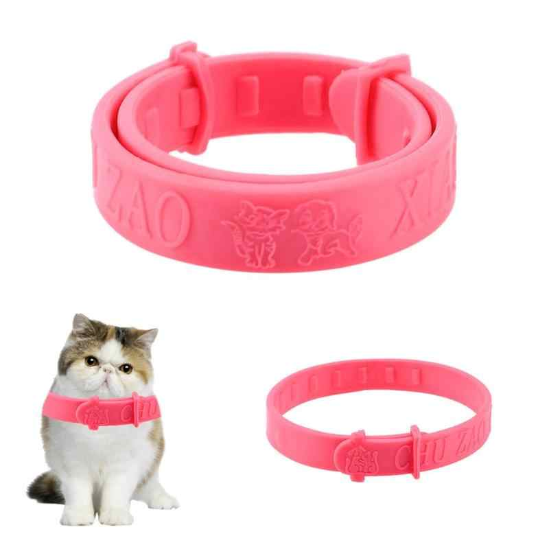 PET regulowana obroża dla kota ochrona przed komarami anty kołnierz dla kota obroża dla kota ochrona przeciw komarom kot przeciw pchłom odstraszacz roztoczy