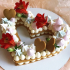 3pcs Heart Shape Cak...