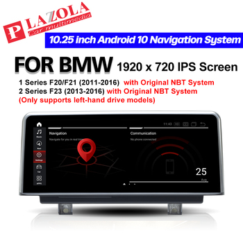 PLAZOLA Android 10 Car Multimedia Player 10.25 For BMW 1 Series F20 F21 2 Series F23 2013-2016 NBT Navigation GPS CarPlay BT image