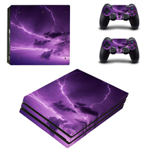 Sky Style Skin Sticker for PS4 Pro Console And Controllers Decal Vinyl Skins Cover YSP4P-3346