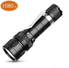 DF10 Scuba Tauchen Licht 18650 LED Taschenlampe Kompakte 1080lm LH351D 1080lm LED Lampe Unterwasser Scheinwerfer Taschenlampe