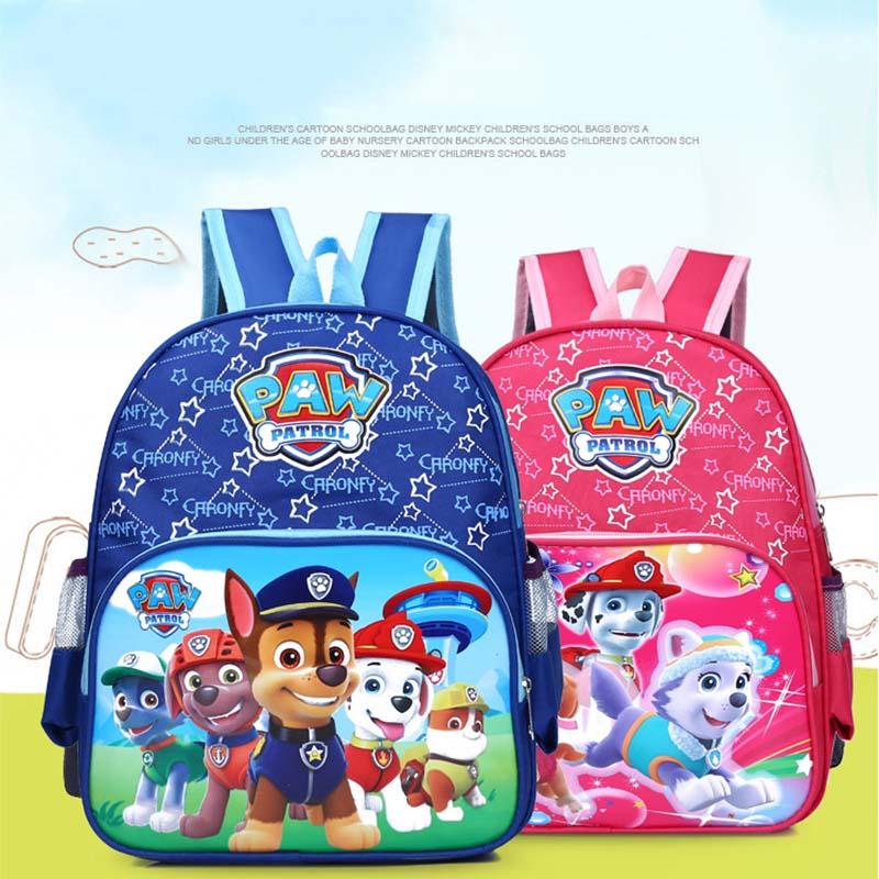 Paw Patrol Bag Children's School Cute Bag Cartoon Print Cute Anime Backpack Child Kindergarten Bag Kids Toys For Children 2D29