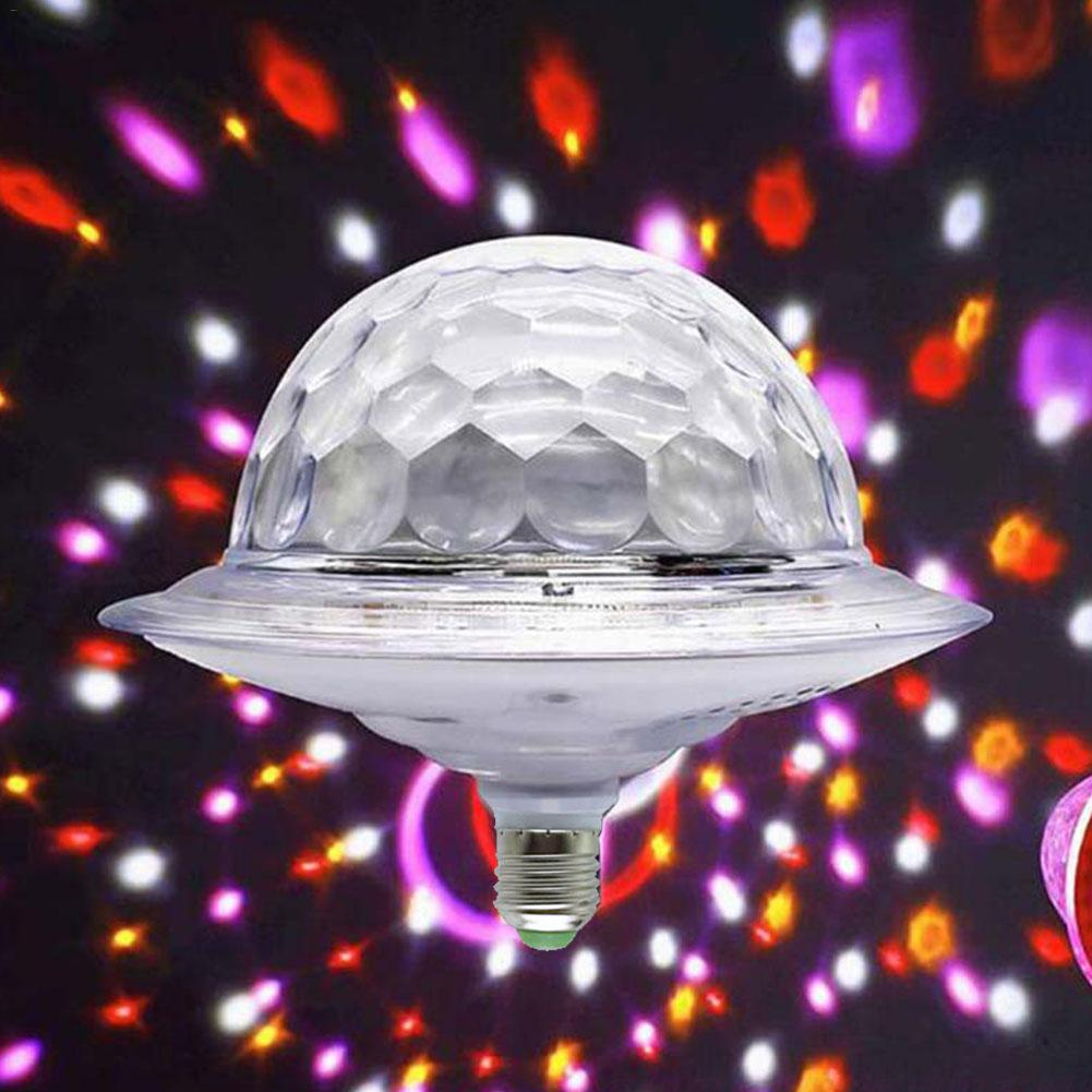 Mini E27 LED Disco Light Portable Family Party Magic Ball Stage Light Disco Club Colorful Effect Stage Lights Crystal Magic Ball