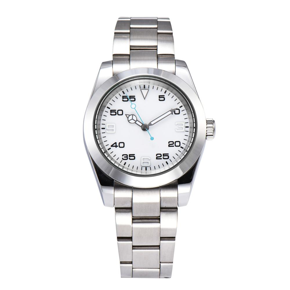 Watch automatic 40mm men\'s new AIK movement OYS white dial stainless steel bracelet luminous pointer solid back cover GL6