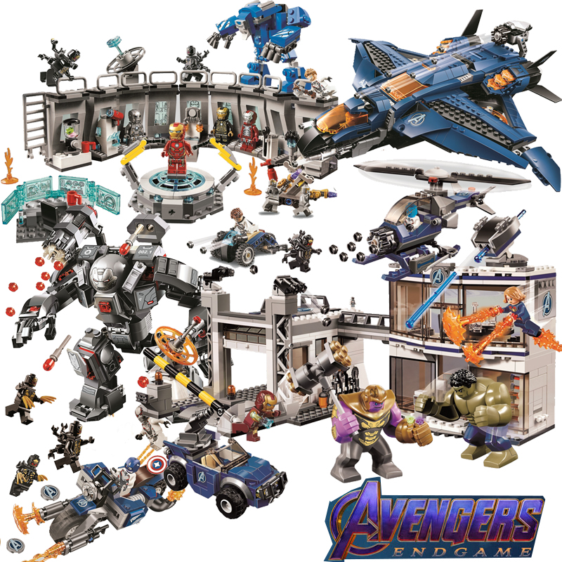 Superheroes Avengers Legoed Iron Man Spiderman Black Widow Assembling Building Blocks Kit DIY Education Christmas Gifts Toys