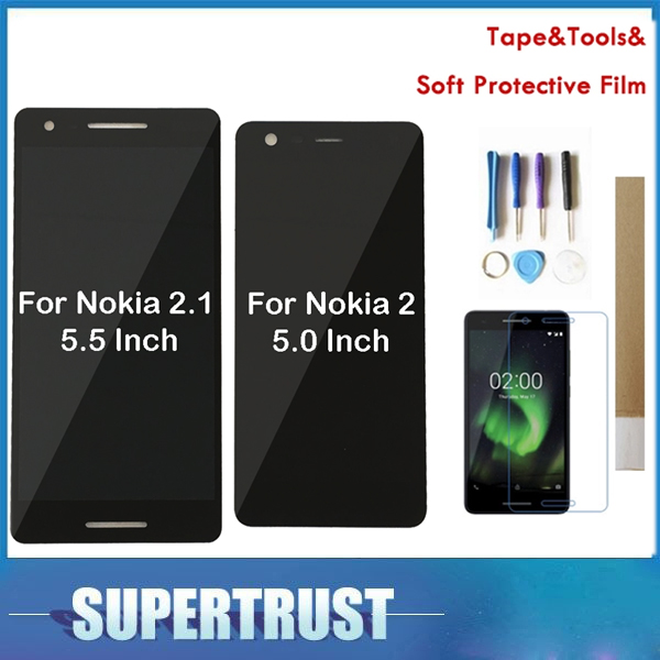 Pour Nokia 2.1 2 (2018) TA-1080 TA-1084 TA-1092 TA-1093 Nokia 2 TA-1029 TA-1007 écran LCD + numériseur d'écran tactile avec kit