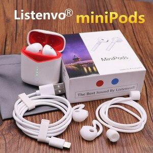 Image 1 - Słuchawki douszne bezprzewodowe z bluetooth, Listenvo miniPods 8D super dźwięk Flypods słuchawki bluetooth 5.0 słuchawki pk i10000 TWS i9000 tws