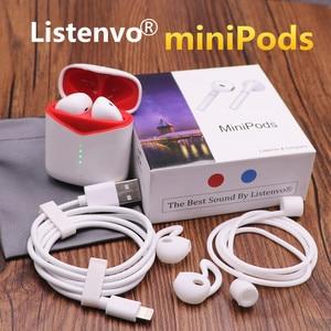 Image 1 - Wireless bluetooth earbuds, Listenvo miniPods 8D super Sound Flypods bluetooth 5.0 headsets headphone  pk i10000 TWS i9000 tws