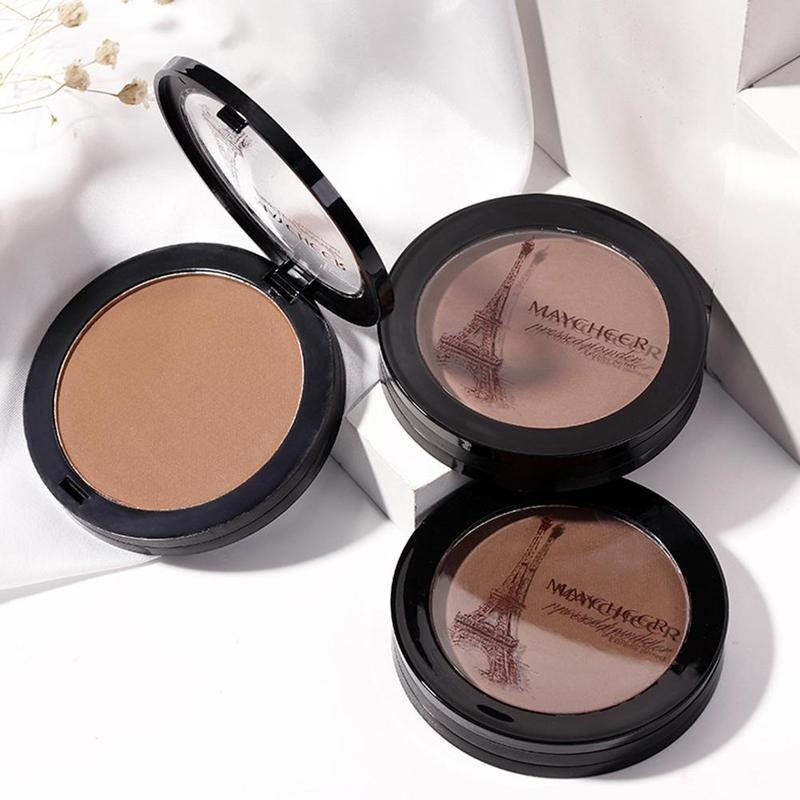 Natural Foundation Shimmer Concealer Brighten Dark Skin Face Powder Contour Bronzer Highlighter Makeup Shimmer Makeup