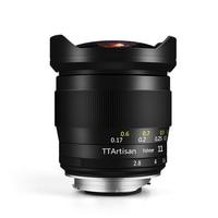 TTArtisan 11mm F2.8 Full Fame Fisheye Lens for Canon R Mount Cameras Like EOSR EOSRP Black