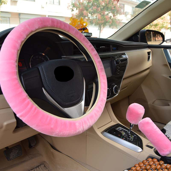 3r Universal Steering Wheel Cover Plush Steering-Wheel Car Steering Wheel Cover Cubre Volante Auto Winter        Car Accessories hot sale car steering wheel cover ethnic style car steering wheel covers car accessories linen universal pretty ethnic style