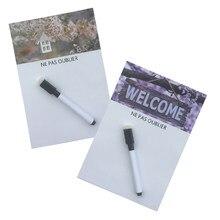 Bem-vindo impresso seco apagar flexível magnético quadro branco/placa de mensagem/almofada de memorando/ímã caixa de diálogo