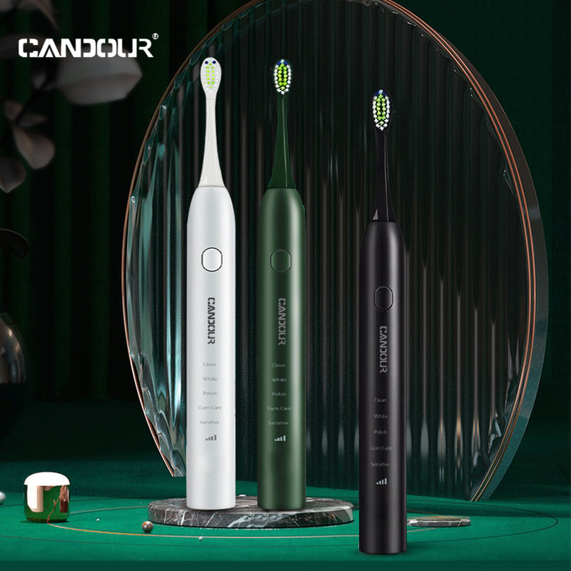 CANDOUR CD-5133 Sonic electric toothbrush Rechargeable Toothbrush Automatic Rechargeable with 8pc Replacement Brush Head