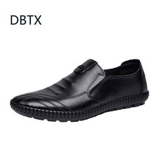 Men Shoes England Trend Casual Leisure Shoes Leather Shoes Breathable Comfortable For Male Footear Loafers Men's Flat Hombre(China)