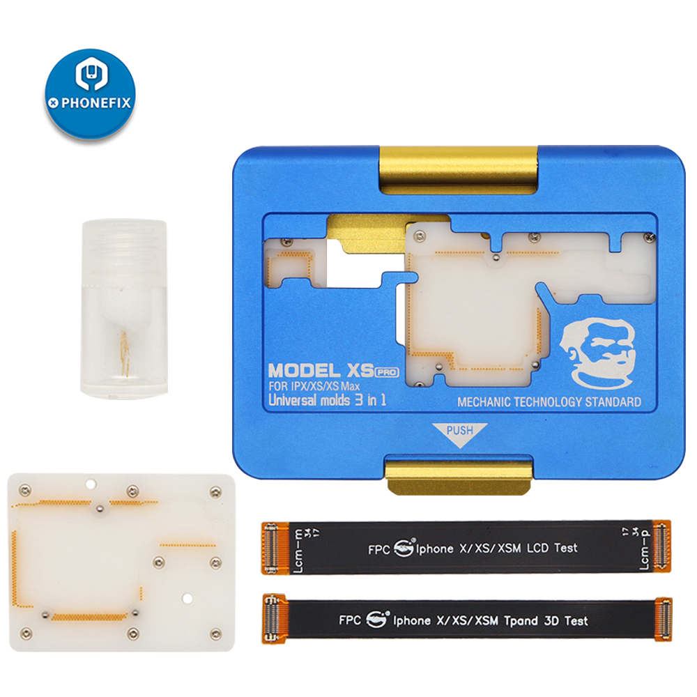 Mechanic Layered Fixture Universal Molds 3 IN 1 Motherboard Fixture PC Separating Test Jig For IPhone X XS MAX Mainboard Clamp