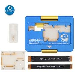 Mechanik warstwowa oprawa uniwersalne formy 3 w 1 płyta główna oprawa PC oddzielanie Test Jig dla iPhone X XS MAX płyta główna zacisk