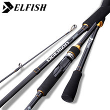 ELFISH Batman Fishing Rod 2.13m 2 Section ML M MF Power Carbon Spinning Casting Rod Lure Fishing Tackle Canne A Peche Pescaria(China)