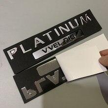 Platina v el show tronco adesivo para nissan patrol y62 platina emblema logotipo adesivo traseiro acessórios de ajuste automático