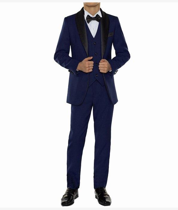 Solovedress 2&3 Pieces Boys Suits Infant Baby Elegant Shawl Lapel Collar White Formal Chlidren Dresswear Kids Wedding Tuxedos