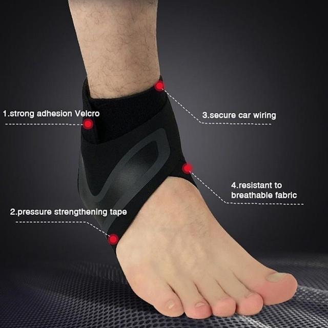 Soporte de tobillo 1 uds, protección de vendaje de pie de Ajuste libre de elasticidad, protector deportivo de prevención de esguince, banda de Fitness 8 6
