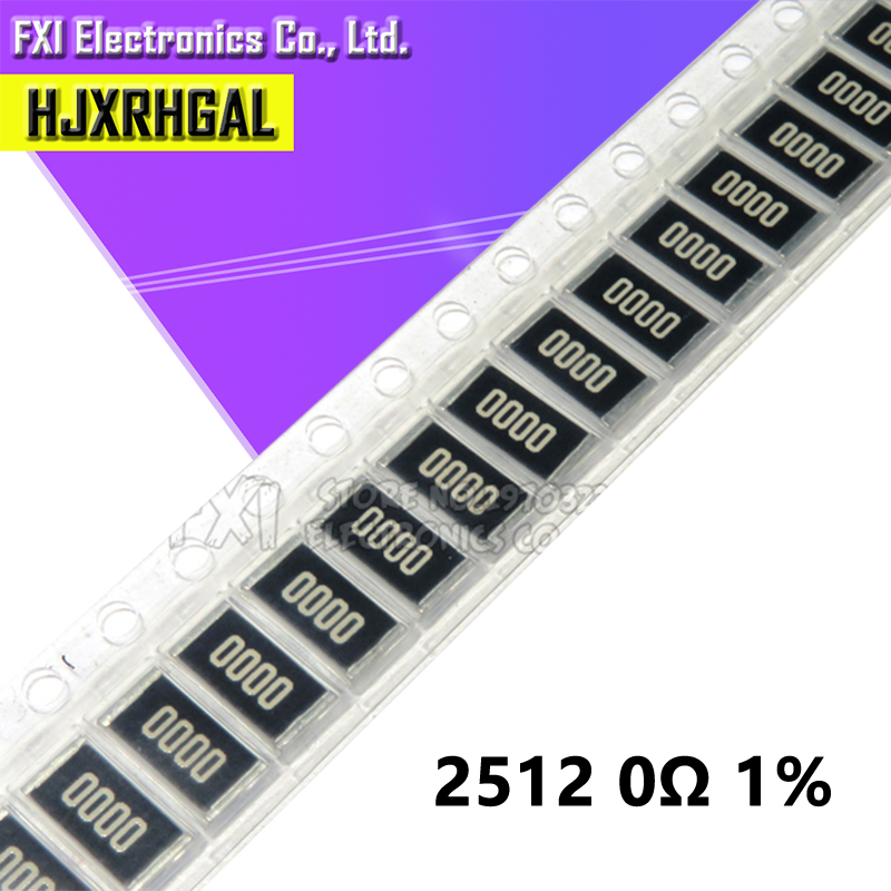 50PCS 2512 SMD Resistor  0 Ohm 1W 0R 1% New Original 0000