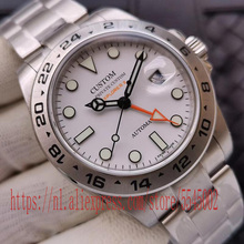 40mm Men's Watch GMT Sapphire Glass Luxury Brand Automatic S