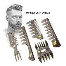 Breite Zähne Haarbürste Gabel Kamm Männer Bart Friseur Pinsel Friseur Styling Tools Berufs Salon Haar Styling Zubehör