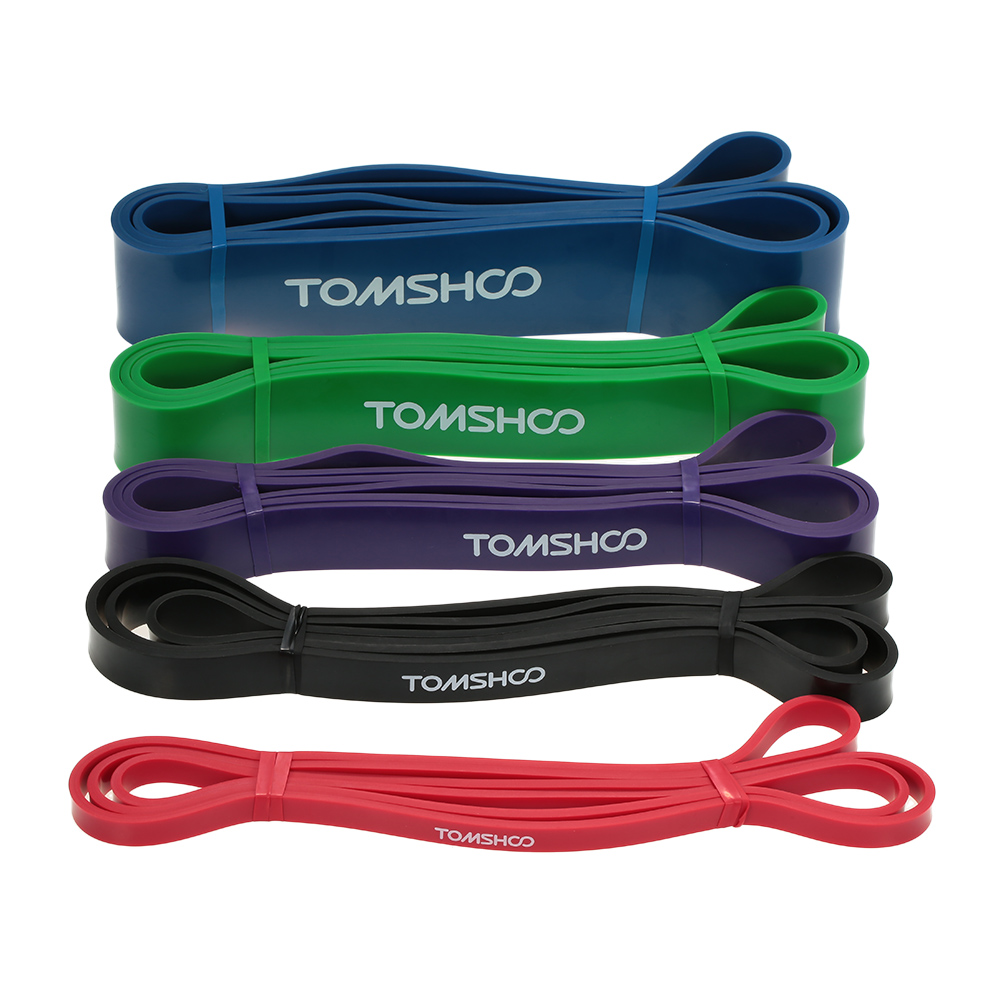 TOMSHOO 208cm Workout Loop Band Pull Up Assist Band Stretch Resistance Band Powerlifting Bodybuilding Yoga Exercise Fitness Band