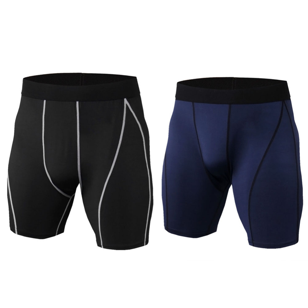 Mens Compression Shorts Gym Sport Pants Running Gym Fitness Trousers