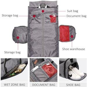 Image 4 - Çok fonksiyonlu yeni spor spor çanta spor taşınabilir erkek seyahat el çantası büyük takım elbise spor çantası eğitim Crossbody omuz çantaları