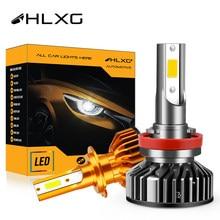 Hlxg mini canbus lampada h4 led h7 nenhum erro luzes de nevoeiro do carro 10000lm 4300k 6000k 8000k lâmpadas h1 9005 hb3 9006 hb4 h8 h9 h11 nebbia