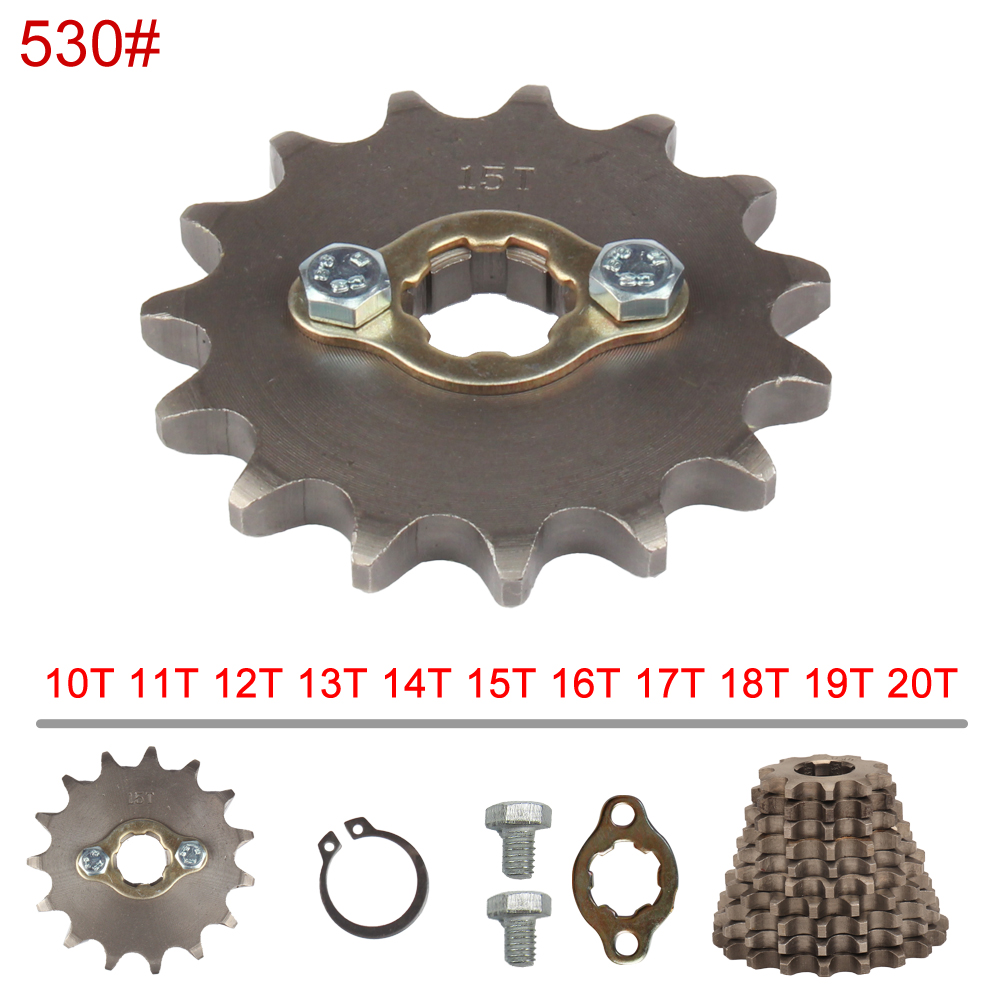 530 Chain 20mm 10 11 12 13 14 15 16 17 18 19 20 21 Teeth Front Engine Sprockets For 200 250cc Dirt Bike ATV Quad Buggy Motorbike