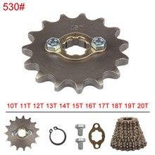 530 cadeia 20mm 10 11 12 13 14 15 16 17 18 19 20 21 Os Dentes Da Frente do Motor Rodas Dentadas Para 200 250cc Dirt Bike ATV Quad Buggy Moto