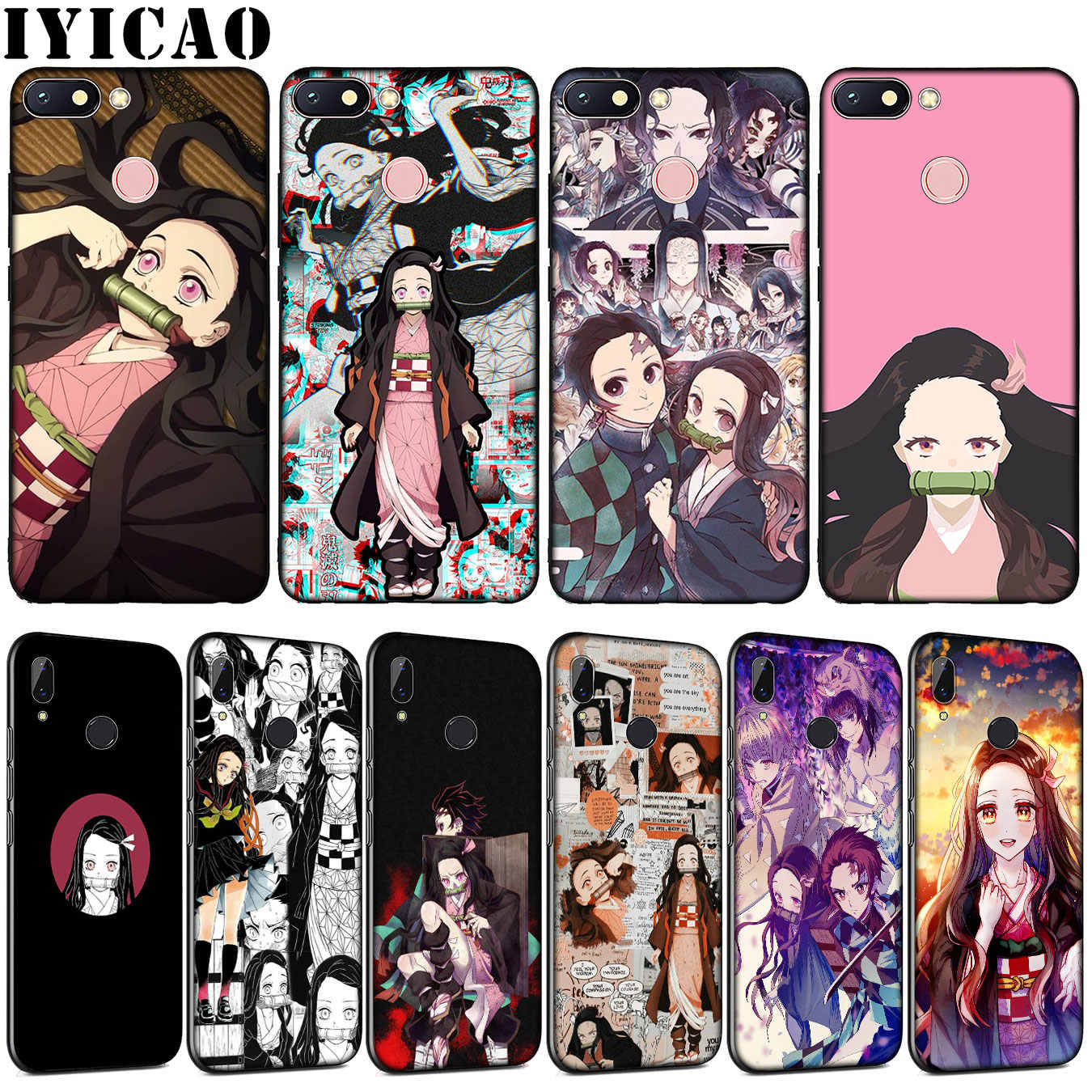 Funda Nezuko Demon Slayer, bonita y suave funda de teléfono para Xiaomi de silicona TPU para Redmi Note 8 8A 8T 7 7A 6 6A 5 5A GO S2 K30 K20 Pro