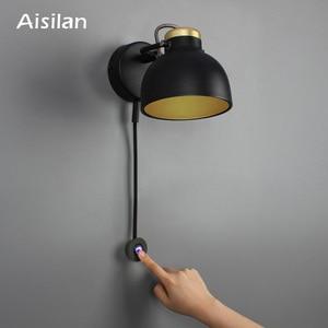 Image 1 - Aisilan LEDโคมไฟMinimalistโคมไฟข้างเตียงInfinite Dimmingสำหรับห้องนั่งเล่นห้องนอนCorridorผนังLight