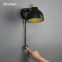 Aisilan Led Wandlamp Minimalistische Bedlampje Oneindige Dimmen Voor Woonkamer Slaapkamer Gang Instelling Wandlamp